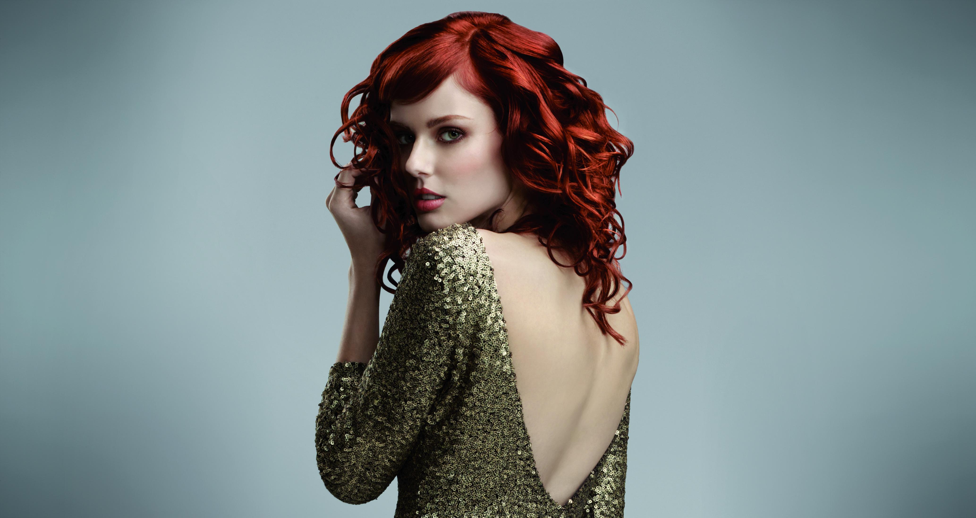 modelle per capelli rossi ricci