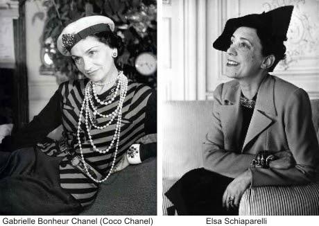 Partendo da destra Elsa Schiaparelli e Coco Chanel