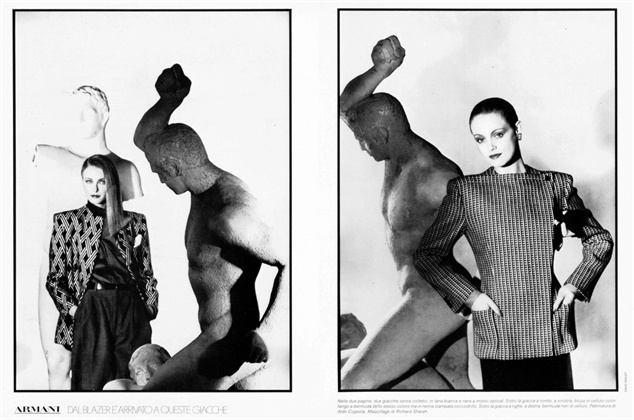 Photo by David Bailey 1980 Vogue Italia, ottobre 1980
